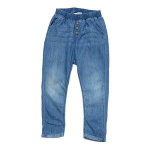H&M Loose Fit Pull On Light Denim Pants